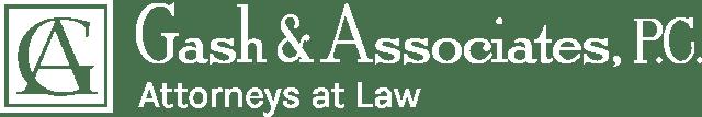 White version of Gash & Associates logo